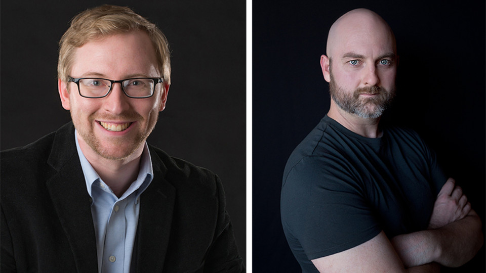 "David von Kampen (left) and Garrett Hope (right) have each been commissioned to write new works for ""A Celebration of Music and Milestone, N150"" on Feb. 15 at the Lied Center for Performing Arts."