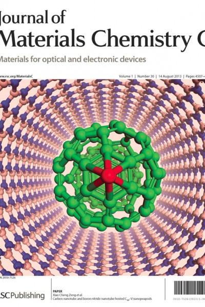 UNL's Xiao Cheng Zeng, Ameritas University professor of chemistry, and his group report a computer-aided nanomaterials design, coined as a carbon buckyball-vanadium nanopeapod.
