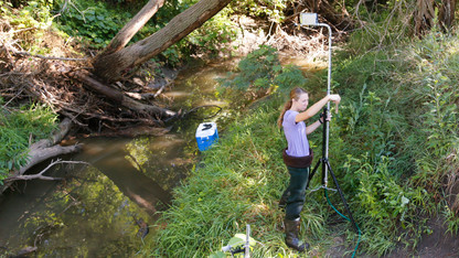 Kirsch makes rain to study landscape runoff