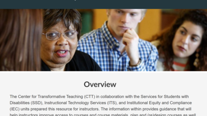 New resource focuses on accessibility, universal design for learning