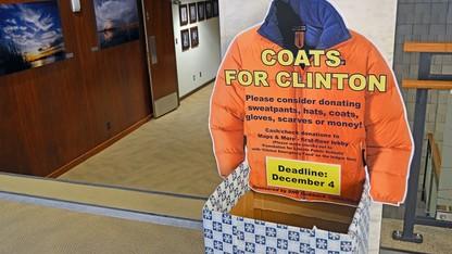 'Coats for Clinton' drive underway until Dec. 4