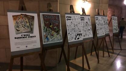C'Rona Pandemic Comics on display at Nebraska Capitol