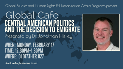 Global Café lecture to explore Central American politics, emigration