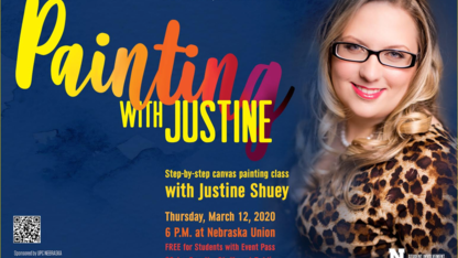 Painting with Justine centered around women's empowerment