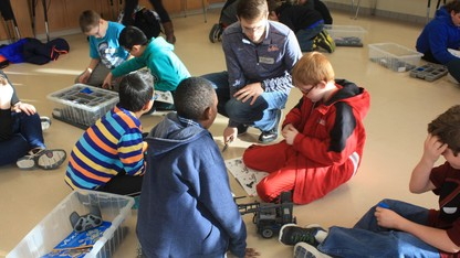Students launch robotics outreach project
