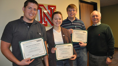 Electrical engineering students earn scholarships