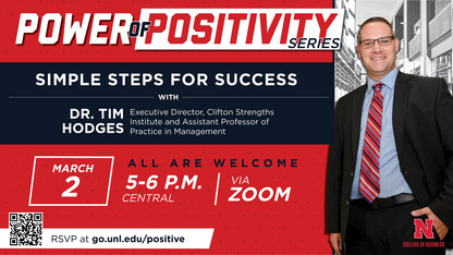 Hodges to continue Power of Positivity series