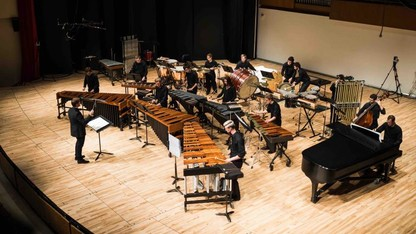 Percussion ensemble presents 'Burn' Feb. 6