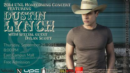 UNL concert features Dustin Lynch, Dylan Scott
