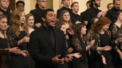 University choirs bring 'Joy' to the Newman Center