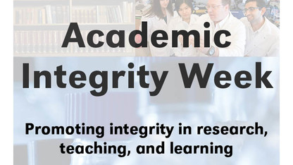 Annual 'Academic Integrity Week' begins