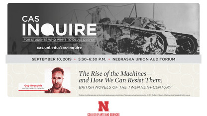 Reynolds to launch Arts and Sciences' 'Inquire' talks