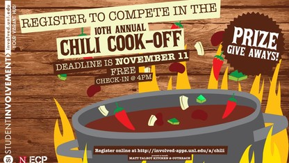 Registration open for Student Involvement's annual chili cook-off