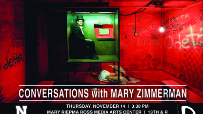 'Conversations with Mary Zimmerman' event is Nov. 14