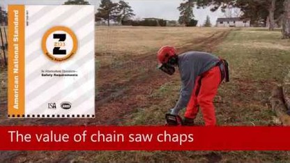 Arboriculture safety: Chain saw chaps vs work pants
