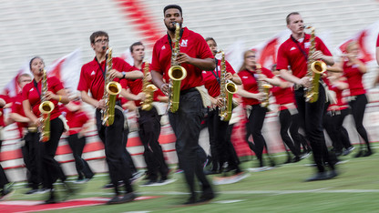 Cornhusker Marching Band preps for Memorial Stadium debut