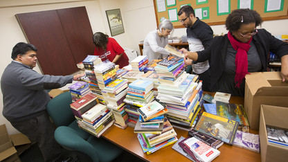 Ethnic studies donates books to Ferguson library