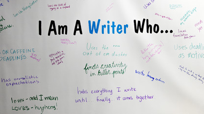 Creative Writing Month activities begin Oct. 5