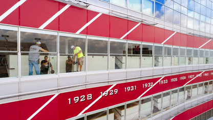 Innovation Studio assists stadium window upgrade