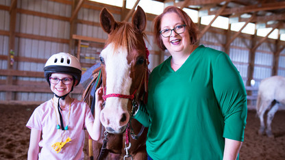 Husker's equine therapy research helps children cope with ADHD