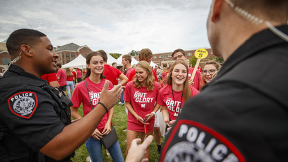 University Police offer Coffee with a Cop event