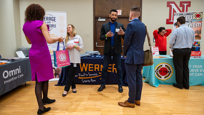 Career Fair opens with 160 companies bringing job, internship opportunities