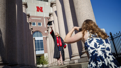 'Kissing columns' on the move after commencement