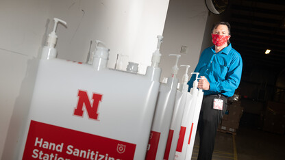 Staff craft solution to deliver hand sanitizer to campus