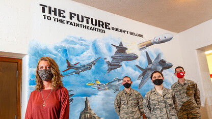 ROTC mural honors Air Force evolution, fallen cadet