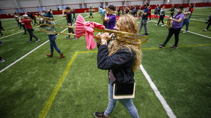 Cornhusker Marching Band presses on amid pandemic