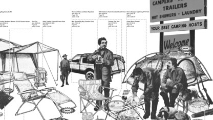 Camping exhibit on display in Architecture Hall