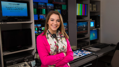 Student takes national internship with 'AC 360'
