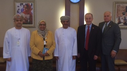 Delegation examines cooperative efforts with Oman