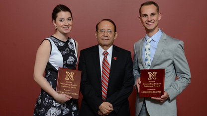 Goldberg, Knopik named outstanding student leaders