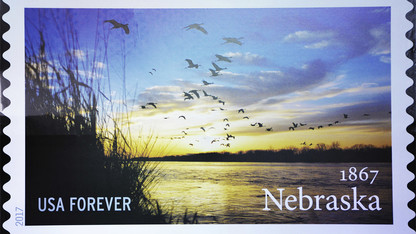 Forsberg photo featured on Nebraska sesquicentennial stamp