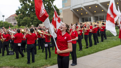 Cornhusker Marching Band makes debut Sept. 4