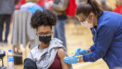 Vaccination clinic brings hope, relief to campus