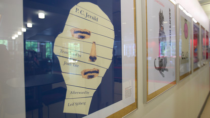 NU Press displays iconic book covers