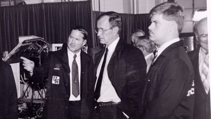 President went for a spin, discussed ethanol during 1989 visit