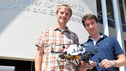 Detweiler, Elbaum lead project to build water-collecting drone