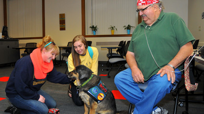 Healing Heart Therapy Dogs visit Love Library