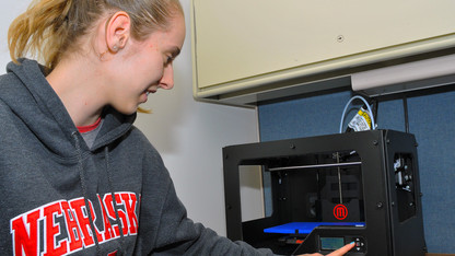Student helps launch 3-D printing program