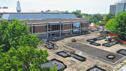 Campus construction rolls on despite record rainfall