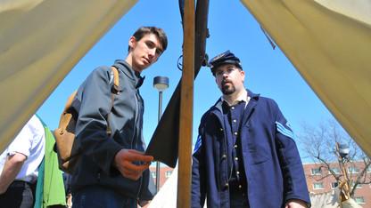Civil War re-enactors to set up camp