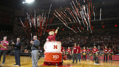 Huskers' halftime hoopla honors 150th year