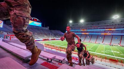 Nebraska ROTC marks 20th anniversary of 9/11 with memorial stair climb