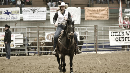 Adamson among nation's best in rodeo event