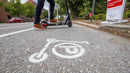 Downtown scooter users reminded to follow parking, riding rules