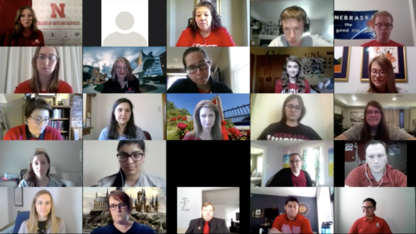 Future Huskers gather online for Admitted Student Day