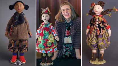 Thornton's textile art dolls featured at Hillestad